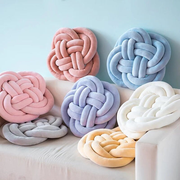 40 cm Throw Knot Seat Cushion, Throw Knot Pillow for Home Decor - HeyHouseCart