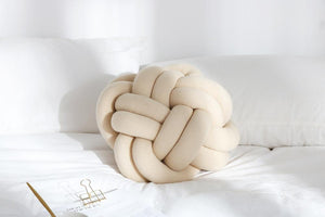 Bird's Nest Shape Throw Pillow Chunky Yarn Hand Knot Sofa Chair Cushion