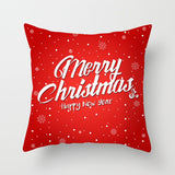 Red Santa Claus Tree Christmas Cushion Cover