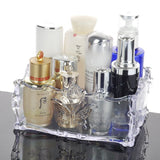 Retro Acrylic Butterfly Carved Desktop Cosmetic Storage Organizer Clear Jewelry Lipstick Brush Container Makeup Box Case - HeyHouse