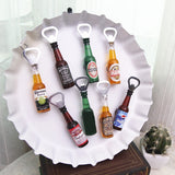 Fridge Sticker Beer Opener and Winebottle - HeyHouse
