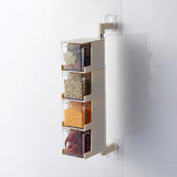 Seasoning Storage Boxes Spice Jar Kitchen Condiment Box Spices Storager Wall Hanging Rotating Kitchen Organization Tools - HeyHouse