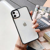 EdgeTransparent Case Cover For iPhone 11 Pro Max XS XR X 8 7 Acrylic Hard Back Case Coque For iPhone 11 Pro SE 2020