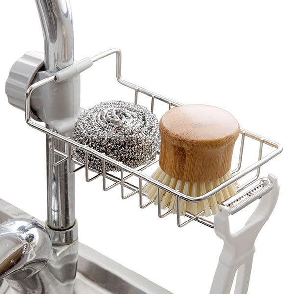 Stainless Steel Kitchen Sink Organizer - HeyHouse