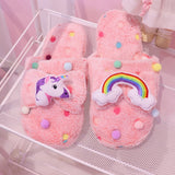 Animal Pudding Cinnamoroll Dog Unicorn Melody Women Kawaii Bear Slippers