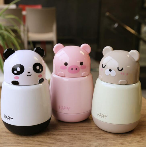 Cartoon Lovely Animals Thermos Bottle Portable Rope Kid Vacuum Flasks - HeyHouse