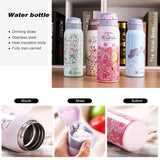 Thermal Flask With Straw 350ml Portable Water Bottle Vacuum Tumbler for Kids - HeyHouse