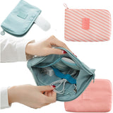 Travel bag Lady toiletries Handbag make up Organizer Zipper Cosmetic storage Bag Digital USB Cable Charger Earphone Stuff case - HeyHouseCart