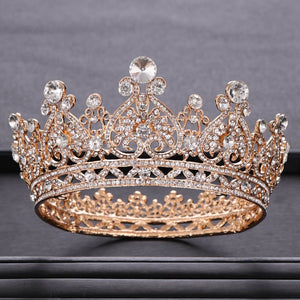Trendy Wedding Crown Baroque Rhinestone Crystal Crown