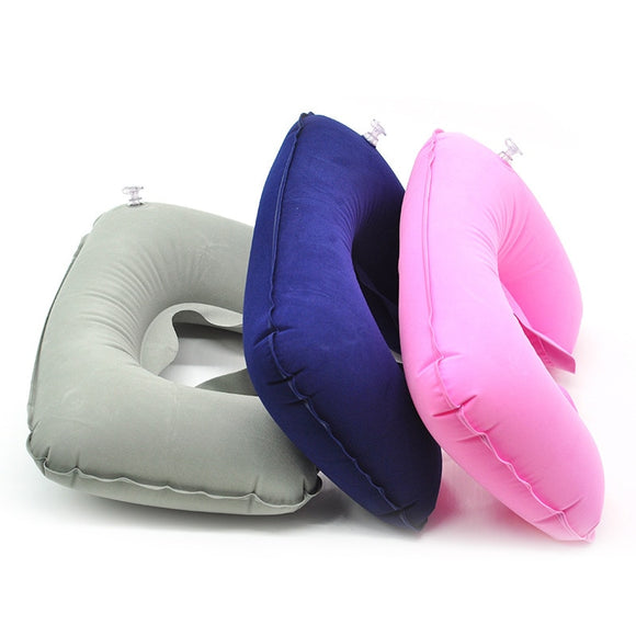U Shaped Travel Pillow Inflatable Neck Car Head Rest Air Cushion for Travel Office Nap Head Rest Air Cushion Neck Pillow - HeyHouse