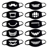 6 Pcs Unisex Dustproof Mouth Mask Pop Anime Cotton Face Mouth Masks - HeyHouse