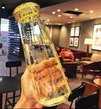Diamond Shaped Glass Bottle 560ml - HeyHouse