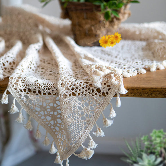 Pastoral handmade crochet Table Cloth