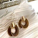 Brown Color Vintage Earrings