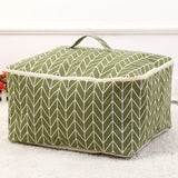 cotton linen fabric Quilt Storage Bag Folding Organizer Bag Portable travel Organizer Underbed Pouch Storage Box Clothing Bag - HeyHouse