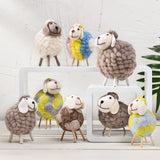 Sheep Needle Feltting animal figurines Home Decoration - HeyHouse