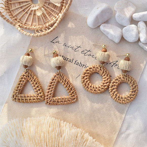 Handmade Braid Pendent Drop Earrings - HeyHouse