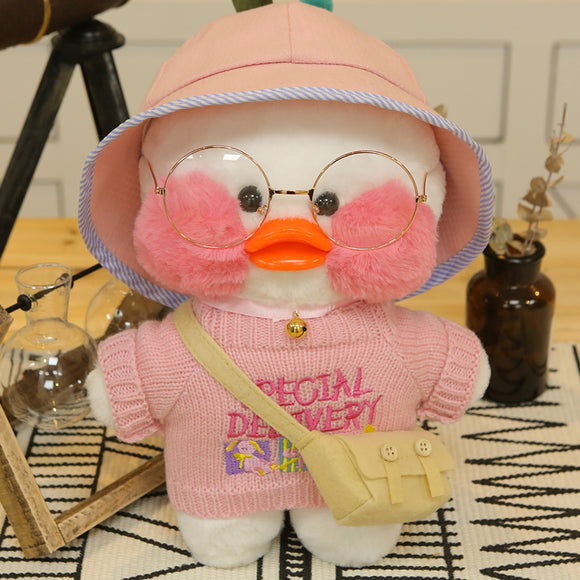 Cute White Color LaLafanfan Cafe Duck Plush Toys