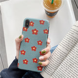 Art Floral Daisy Phone Soft TPU Back Cases Cover