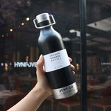 470ml Portable Termos Double Wall Stainless Steel Water Bottle - HeyHouse