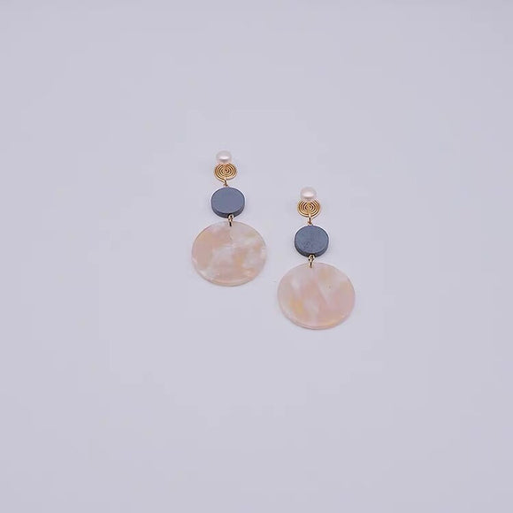 Simple Big Round Dangle Earrings Ear Clips - HeyHouse