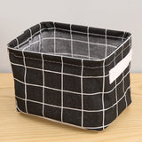 folding Desktop Storage Basket kid toys Organizer Cotton Linen Waterproof Sundries Storage Box Cabinet Underwear Storage Bag - HeyHouse