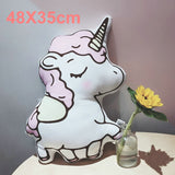 Cute Unicorn Plush Pillow Stuffed Cartoon Animal Shaped Pillow - HeyHouse