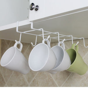 new Under Cabinet Mug Cup Holder Kitchen Hanging Organizer Drying Rack cupboard hook Organizers bag ties Storage Holder - HeyHouse