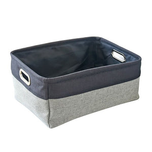 Fashion Finishing Imitation Linen Storage Box Thickened EVA Storage Basket Home Garden Home Storage Organization - HeyHouse