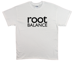White Unisex T-Shirt w/ Black Logo