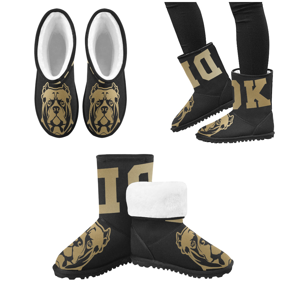 Gold and Black General DDK Kids Snow Boots