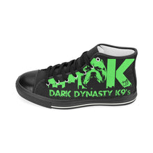 Load image into Gallery viewer, Green logo High Top Canvas Shoes
