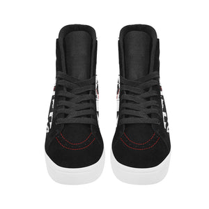 Men's High Top Casual Black and White DDK Shoes