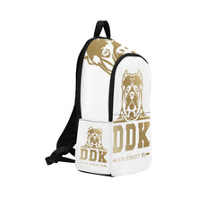 Load image into Gallery viewer, White and Gold Back Pack