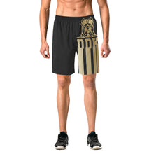 Load image into Gallery viewer, Black and Gold Beach Shorts
