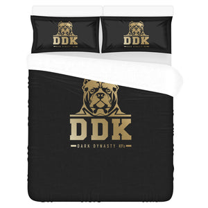 Black and Gold 3 Piece Bed Sheet Set