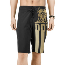 Load image into Gallery viewer, Black and Gold General Board Shorts