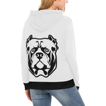 Load image into Gallery viewer, black and white High Neck Pullover Hoodie