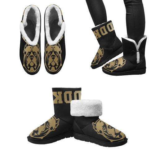 Gold and Black General DDK Snow Boots