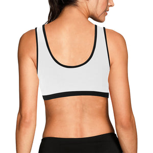 White and Gold Sports Bra