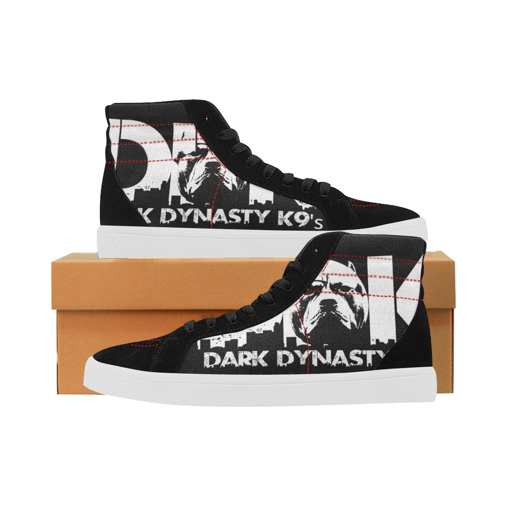 Women's High Top Casual Black and White DDK Shoes