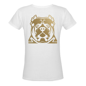 White and Gold T Shirt