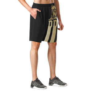 Black and Gold Beach Shorts