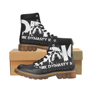 Women's Round Toe Black and White DDK Boots