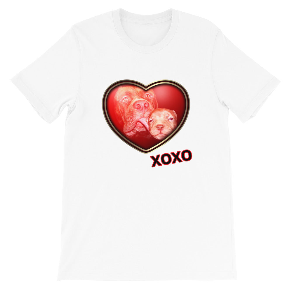 Black, Red and White heart T-shirt Unisex