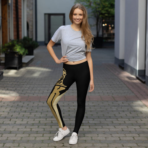 Black and Gold General Leggings