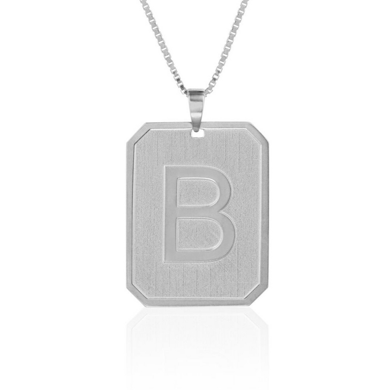 Embossed Dog Tag Necklace