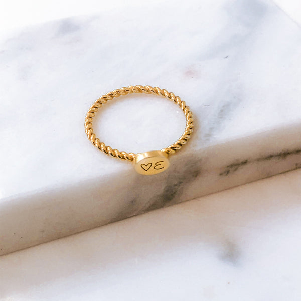 Dainty Braided Personalised Ring