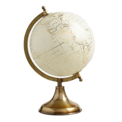 White & Gold Decorative Globe Preorder
