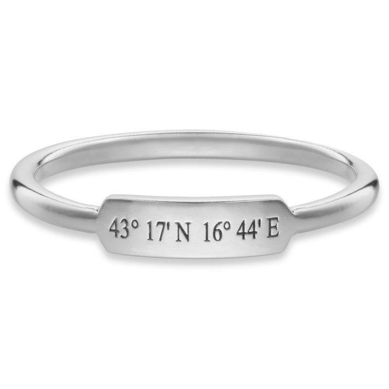 Personalised Bar Ring